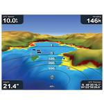 bluechart g2 vision - widok 3D - nad wodą